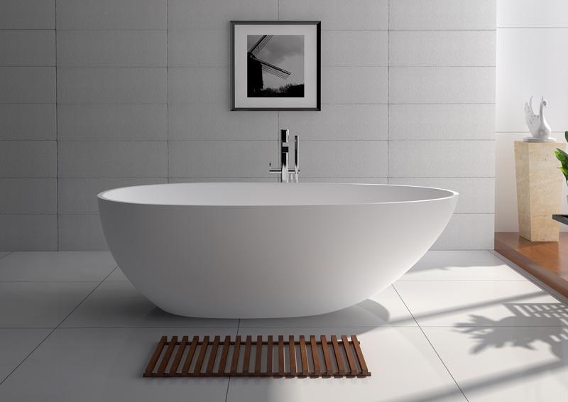 JINGZUN BATH solid surface/stone resin  bathtub