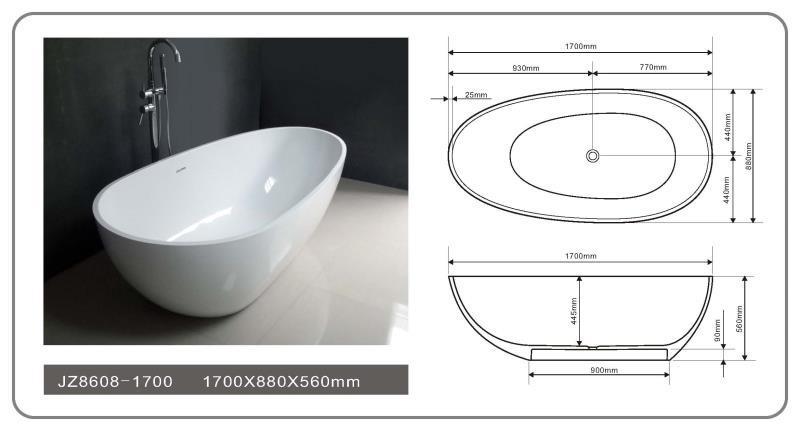 solid surface tub 71 solid stone bathtub JINZUN