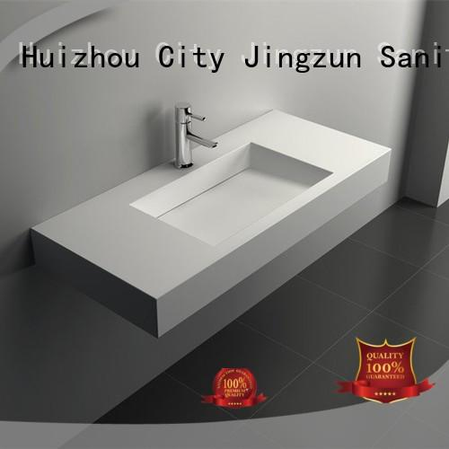 seamless solid surface vanity sinks surface JINZUN company