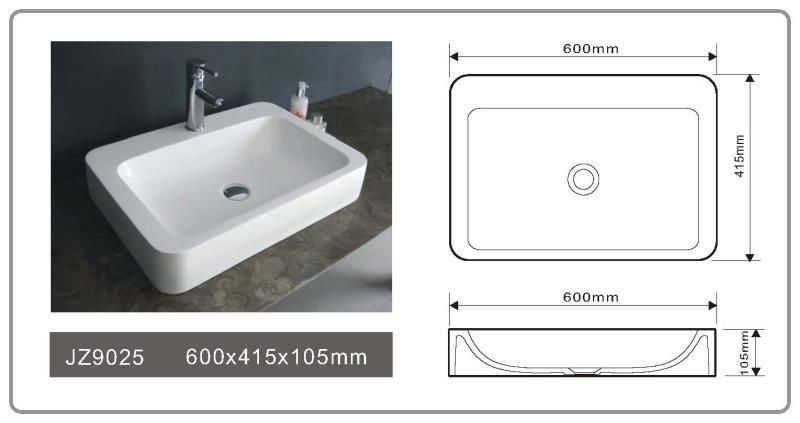 JINGZUN BATH solid surface/stone resin basin/sink JZ9025