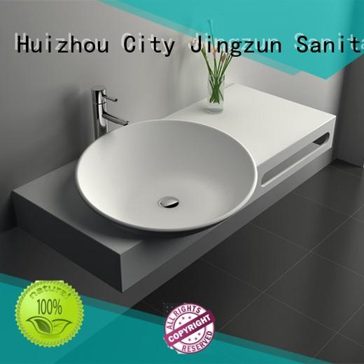 JINZUN high quality stone bathroom basins manufacturer for apartment