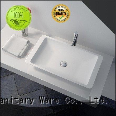 solid surface countertop options bowl cast OEM Solid Surface Wash Basin JINZUN