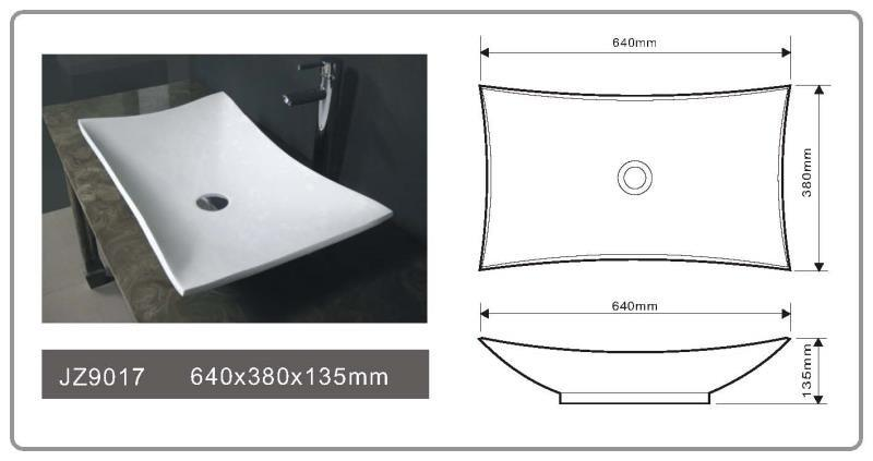 JINGZUN BATH solid surface/stone resin basin/sink JZ9017