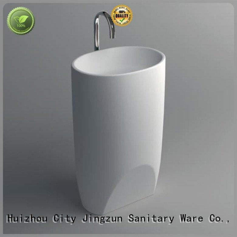solid surface integrated bathroom sinks jz2010 JINZUN Brand Solid Surface Wash Basin