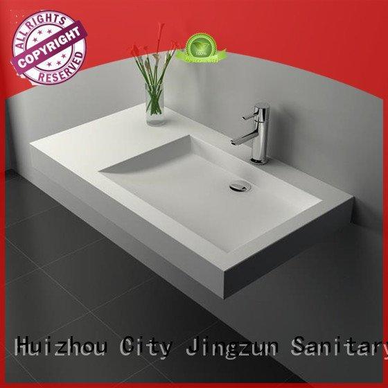 Hot solid surface countertop options jz9013 basin bathroom JINZUN Brand