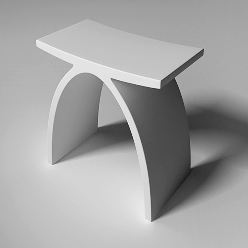 JINZUN Solid Surface Bathroom Chair JZ3001 Solid Surface Accessories image68