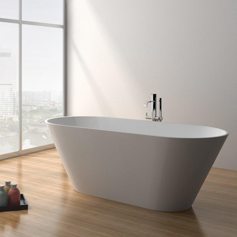 68 Inch Modern Solid Surface Freestanding Bathtub JZ8625