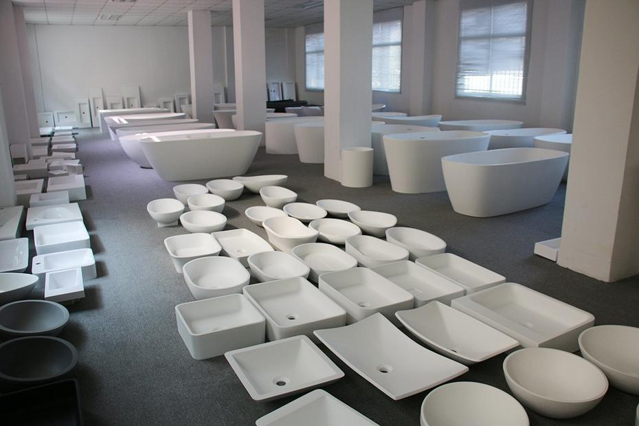 Showroom-Jingzun Solid Surface Bath Products