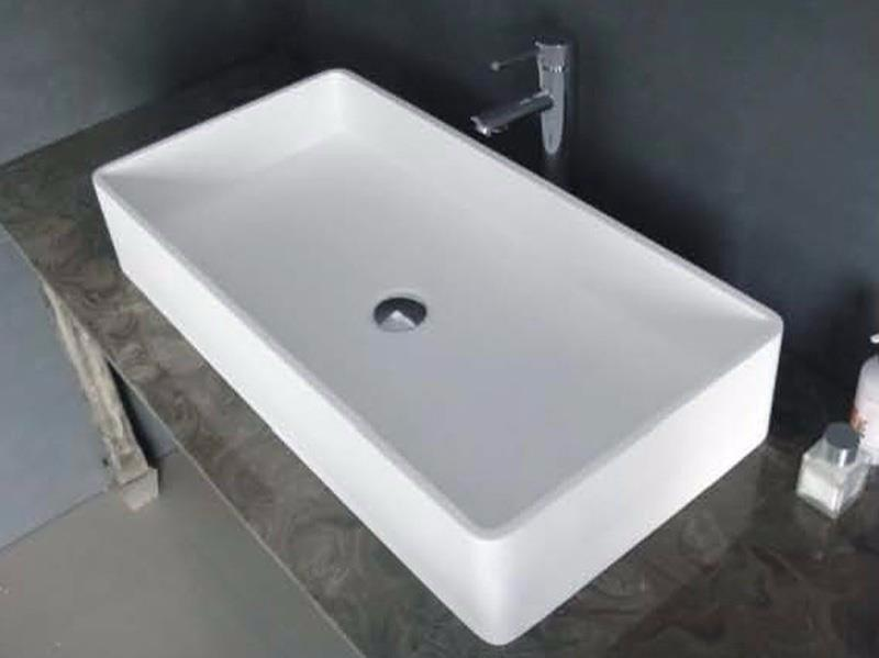 Cast Stone Solid Surface Bathroom Countertop Sink JZ9010