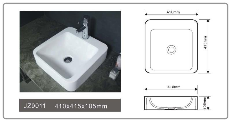 JINGZUN BATH solid surface/stone resin basin/sink JZ9011