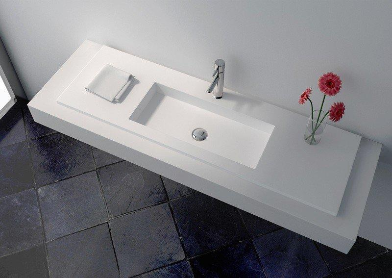 Cast Stone Solid Surface Bathroom Countertop Basin JZ9028