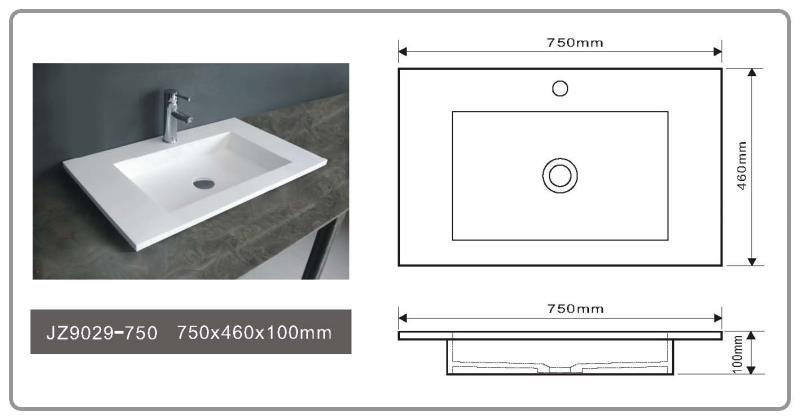 solid surface countertop options jz9039 JINZUN Brand Solid Surface Wash Basin