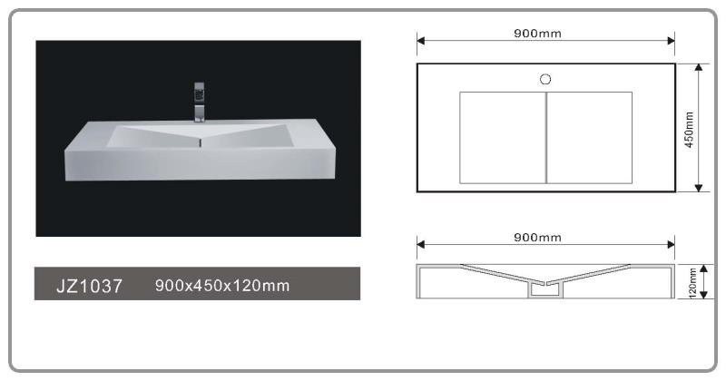 JINGZUN BATH solid surface basin/sink JZ1037