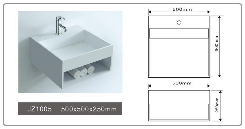 JINGZUN BATH solid surface basin/sink JZ1005