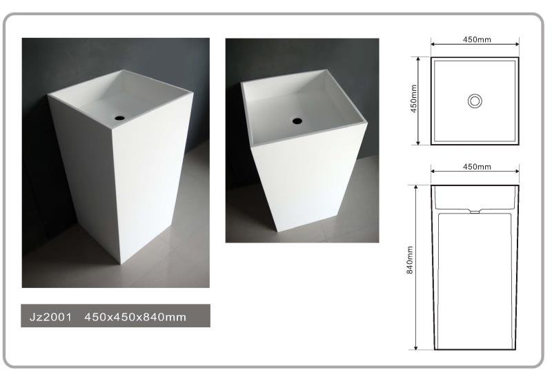 JINGZUN BATH solid surface/stone resin freestanding basin/sink JZ2001
