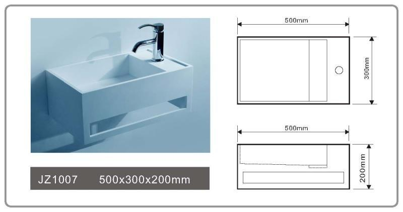solid surface vanity sinks jz1037 jz1035 series JINZUN