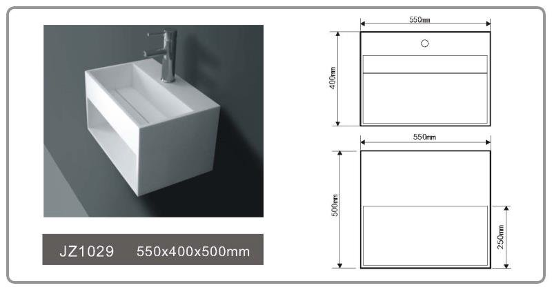 JINGZUN BATH solid surface/stone resin basin/sink JZ1029