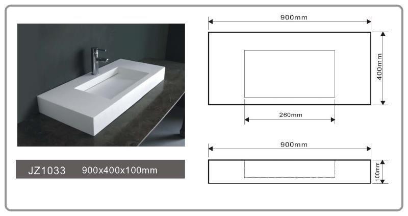 solid surface vanity sinks mount wash series JINZUN