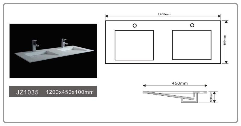 solid surface/stone resin basin/sink JZ1035