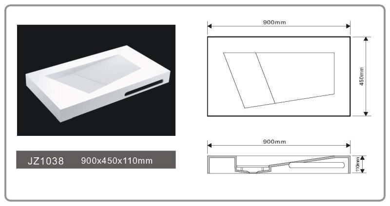 JINGZUN BATH solid surface basin/sink JZ1038