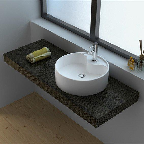 Cast Stone Solid Surface Countertop Wash Basin JZ9062