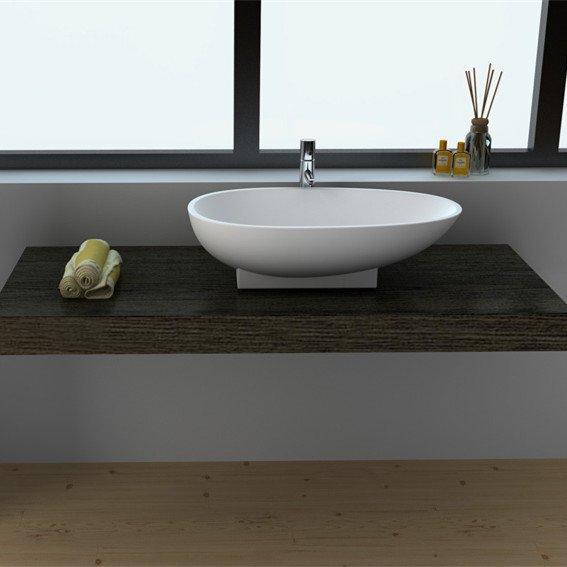 Cast Stone Solid Surface Bathroom Countertop Basin JZ9055