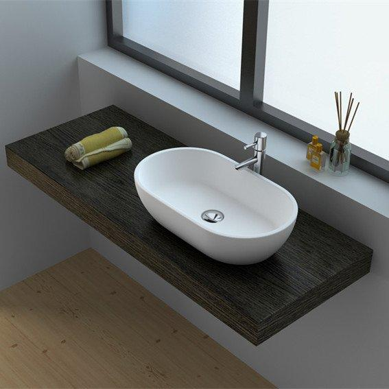 Cast Stone Solid Surface Bathroom Countertop Sink JZ9033