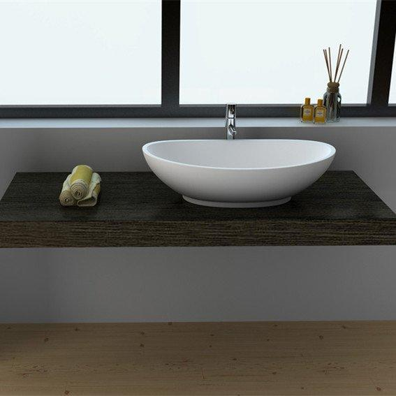 Cast Stone Solid Surface Bathroom Countertop Basin JZ90 Series