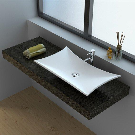 Cast Stone Solid Surface Vessel Countertop Sink JZ9017