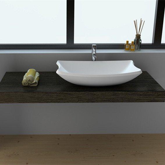 Cast Stone Solid Surface Bathroom Countertop Basin JZ9016