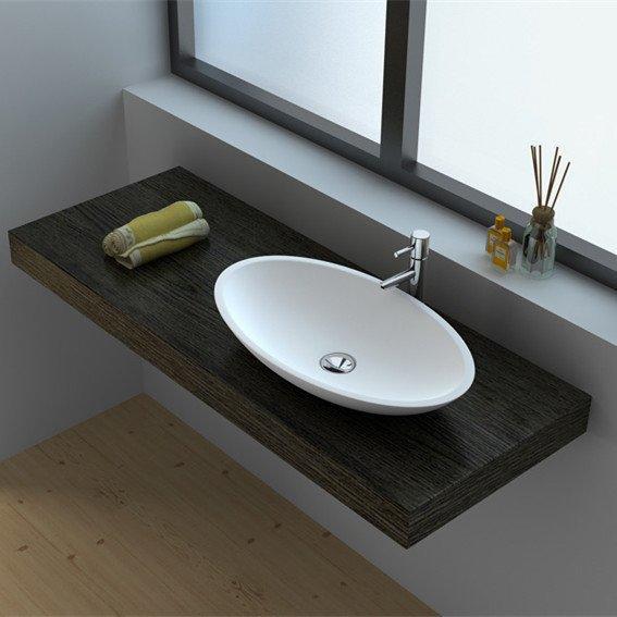 Cast Stone Solid Surface Vessel Countertop Sink JZ9006
