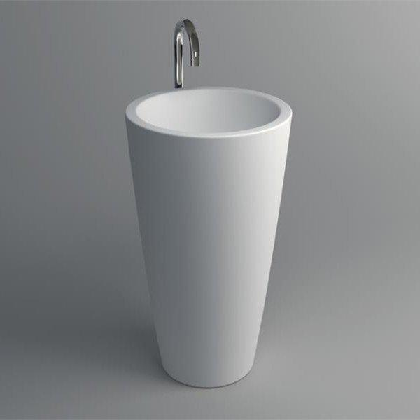 Solid Surface Pedestal Freestanding Sink JZ2010