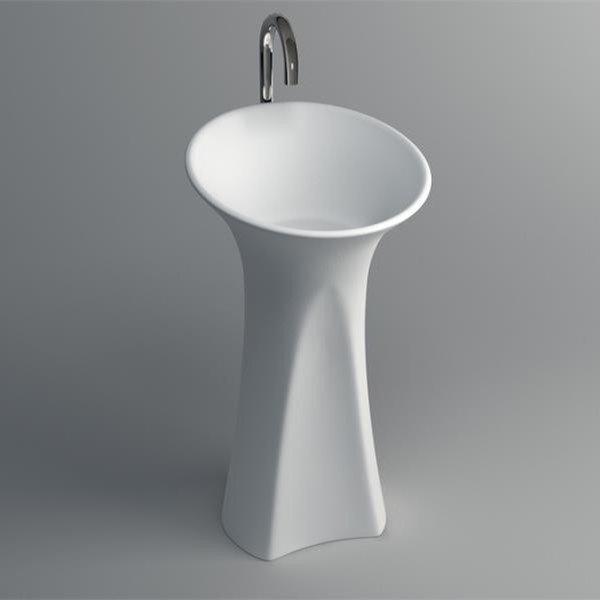 resin freestanding bath Solid Surface Pedestal Freestanding Basin JZ2007 information