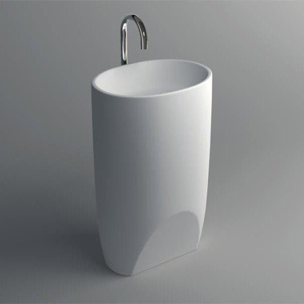JINZUN Solid Surface Pedestal Freestanding Sink JZ2006 Solid Surface Freestanding Basin image55