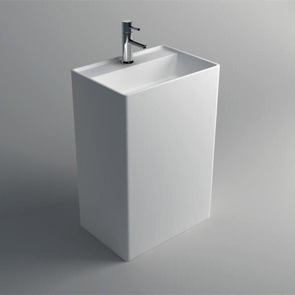 JINZUN Solid Surface Pedestal Freestanding Basin JZ2004 Solid Surface Freestanding Basin image56