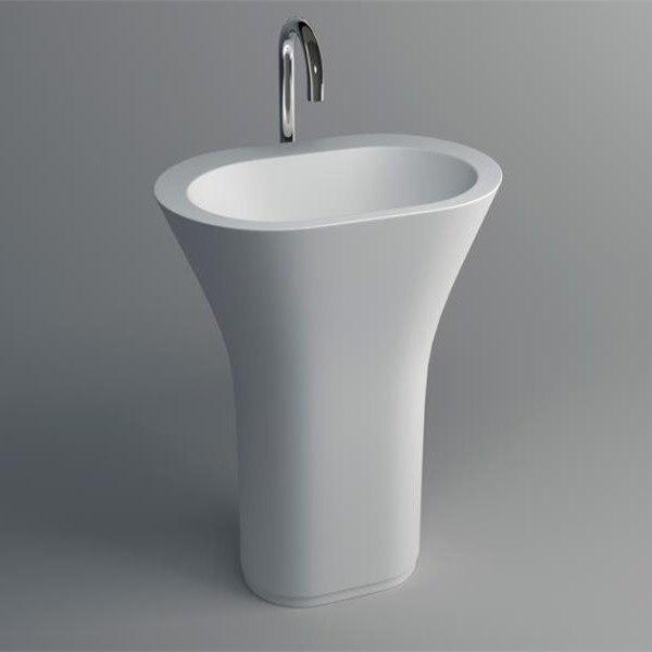 JINZUN Solid Surface Pedestal Freestanding Basin 20 Series Solid Surface Freestanding Basin image57