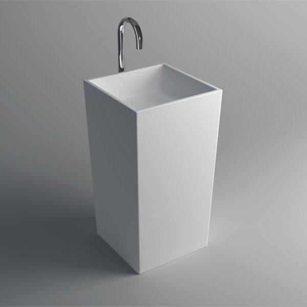 Solid Surface Pedestal Freestanding Sink JZ2001