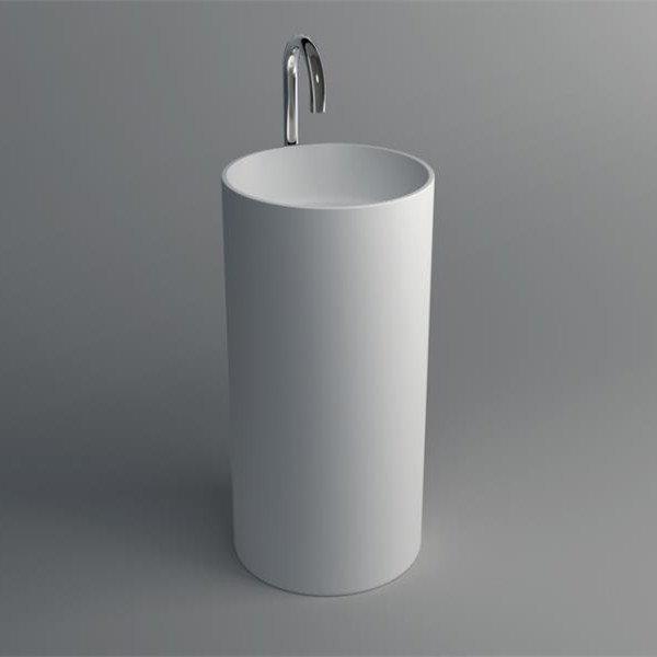 Solid Surface Pedestal Freestanding Basin JZ2012