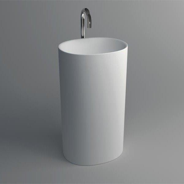 Solid Surface Pedestal Freestanding Sink JZ2008