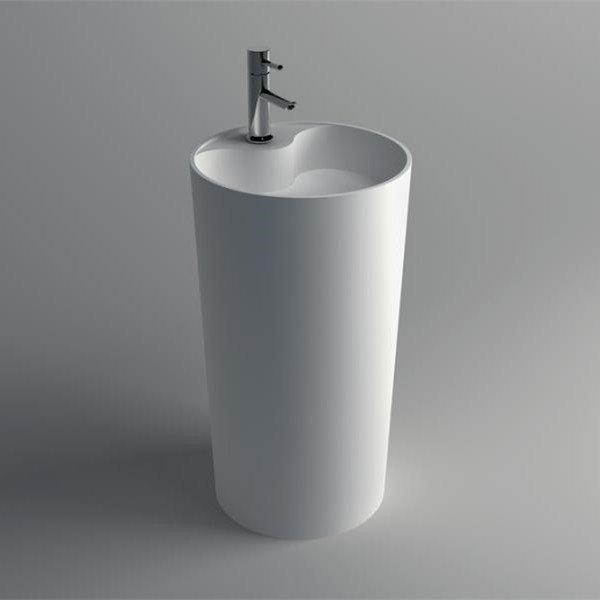 Solid Surface Pedestal Freestanding Basin series