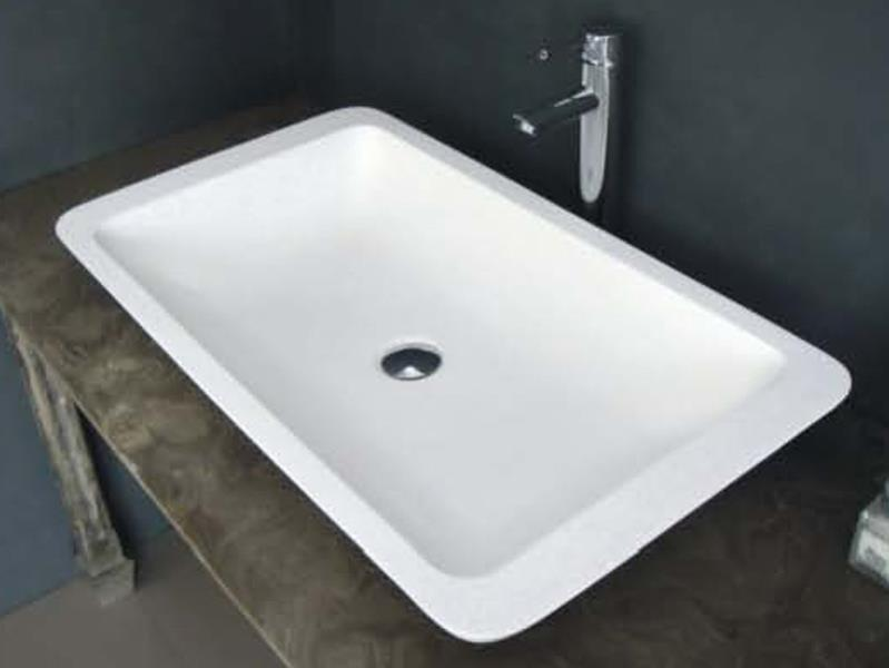 Cast Stone Solid Surface Bathroom Countertop Basin JZ9013