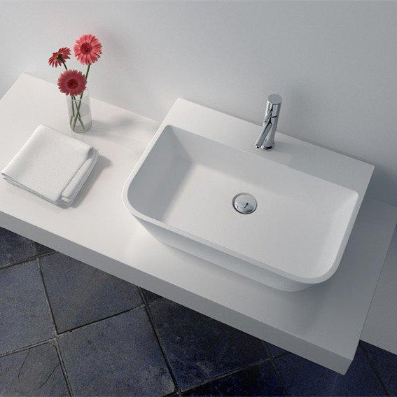 Cast Stone Solid Surface Countertop Wash Basin JZ9031