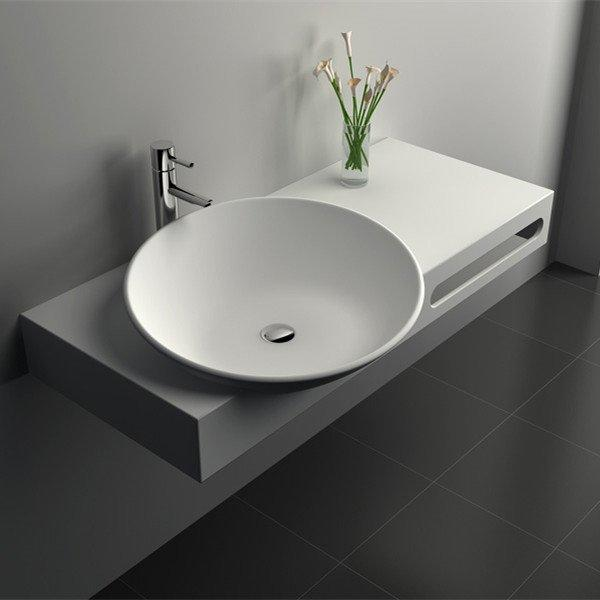 Cast Stone Solid Surface Bathroom Countertop Sink JZ9026