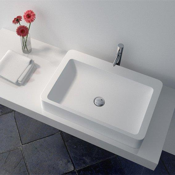 Cast Stone Solid Surface Countertop Wash Basin JZ9025