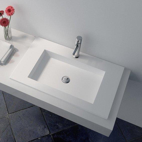 Cast Stone Solid Surface Countertop Wash Basin JZ9029