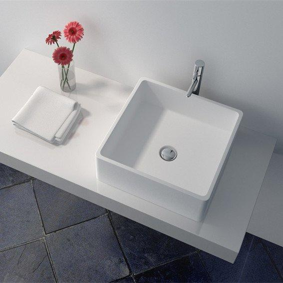 Cast Stone Solid Surface Countertop Wash Basin JZ9008