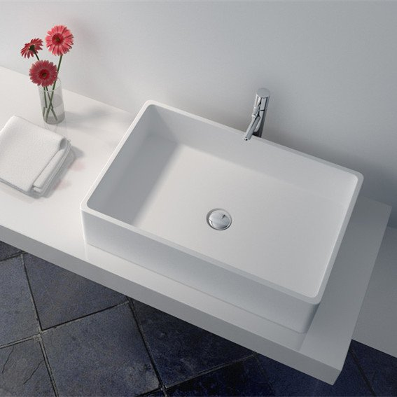 JINZUN Cast Stone Solid Surface Countertop Wash Basin JZ9009 Solid Surface Countertop Basin image48