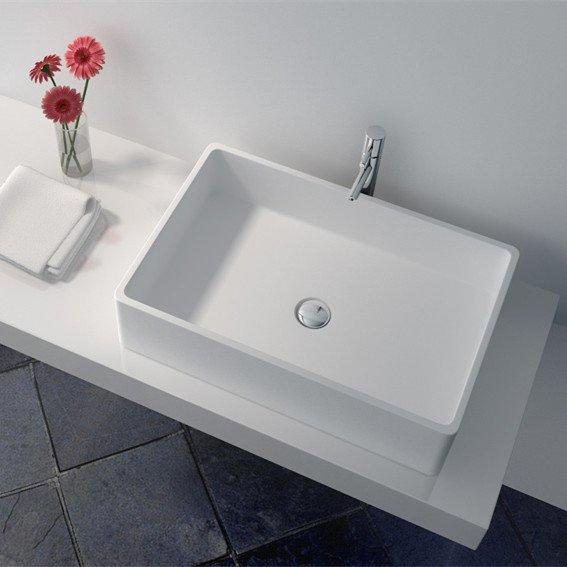 Cast Stone Solid Surface Countertop Wash Basin JZ9009