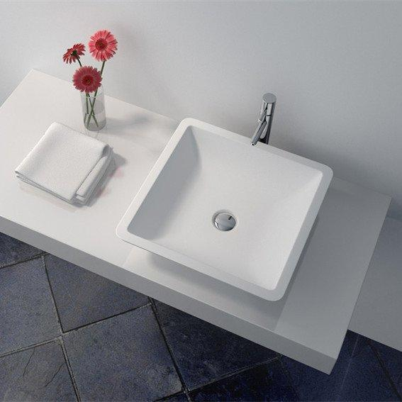 Cast Stone Solid Surface Bathroom Countertop Basin JZ9003