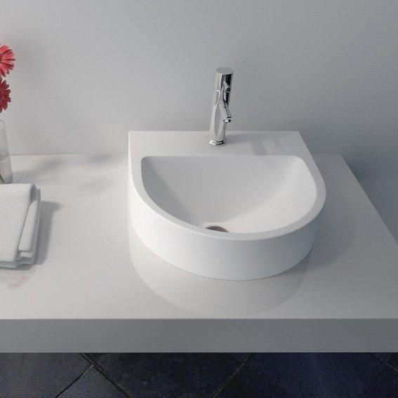 Cast Stone Solid Surface Countertop Wash Basin JZ9007